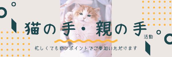 猫の手・親の手活動